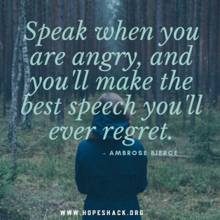 Speak when you are angry, and you'll make the best speech you'll ever regret. - Ambrose Bierce.png